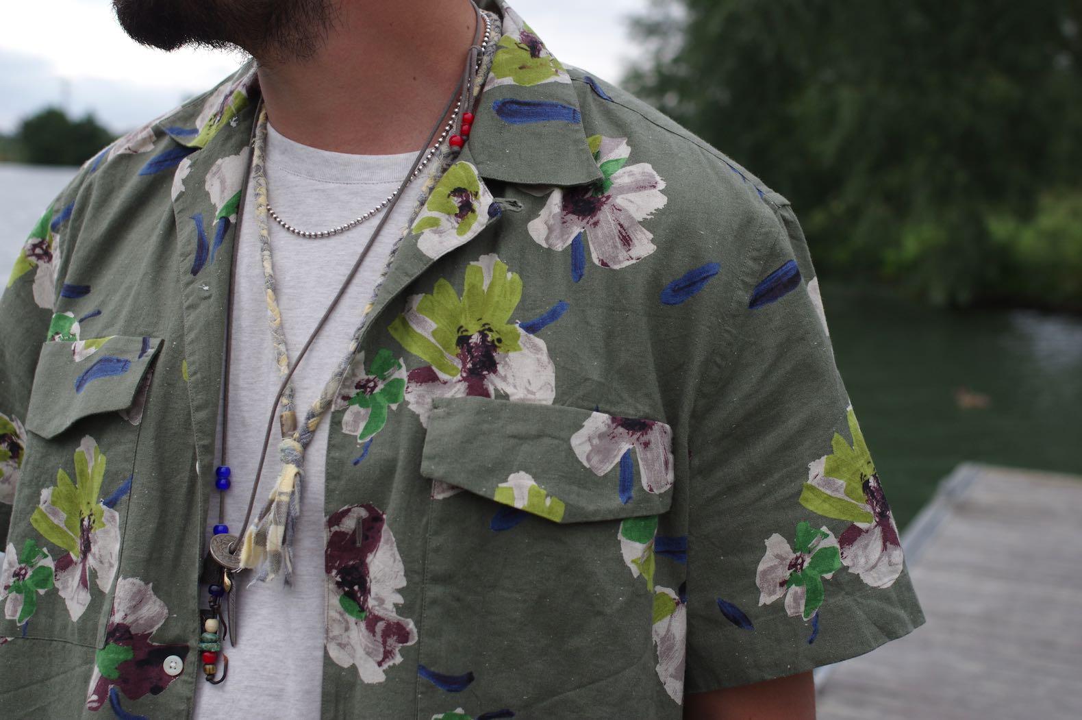 chemisette à fleur abcl