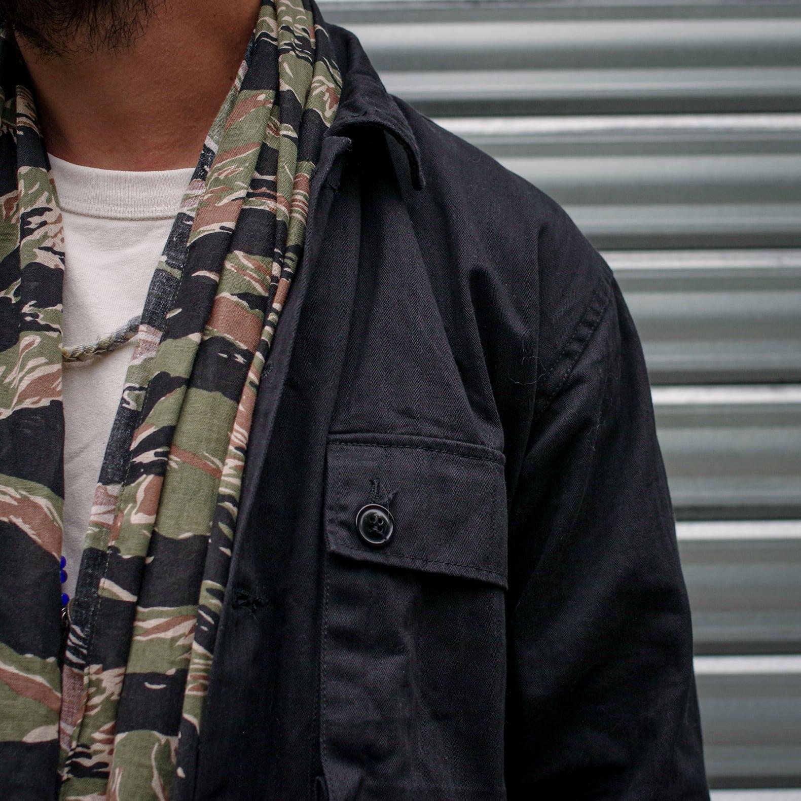 détails matières mode militaire camo hbt