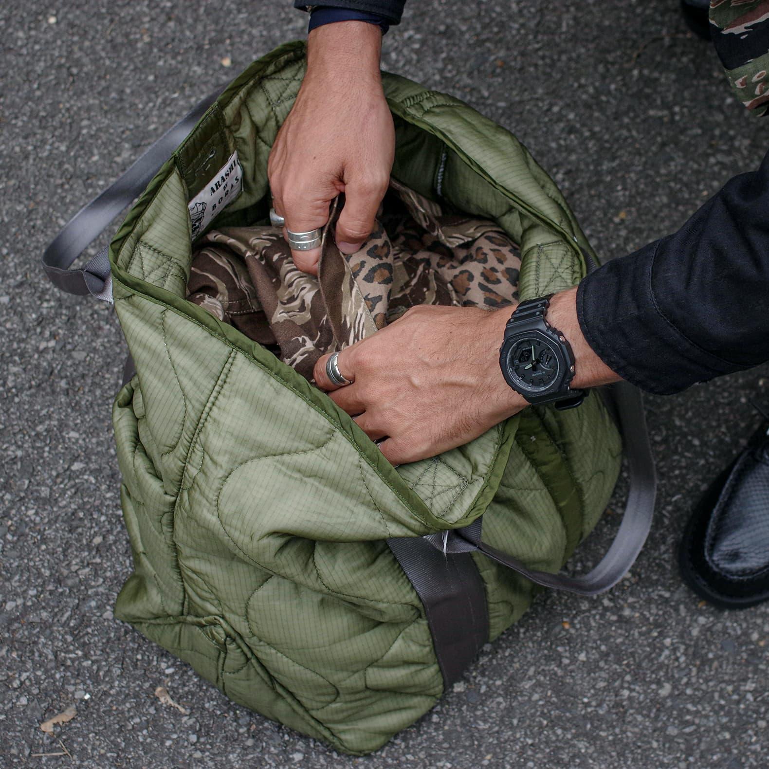 sac de type tote bag militaire