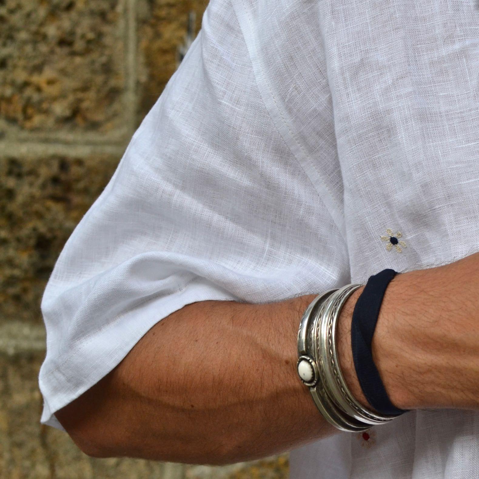 bracelet homme argent améridien