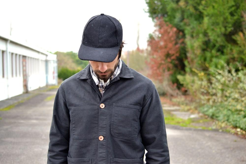 veste de travail noire patinée