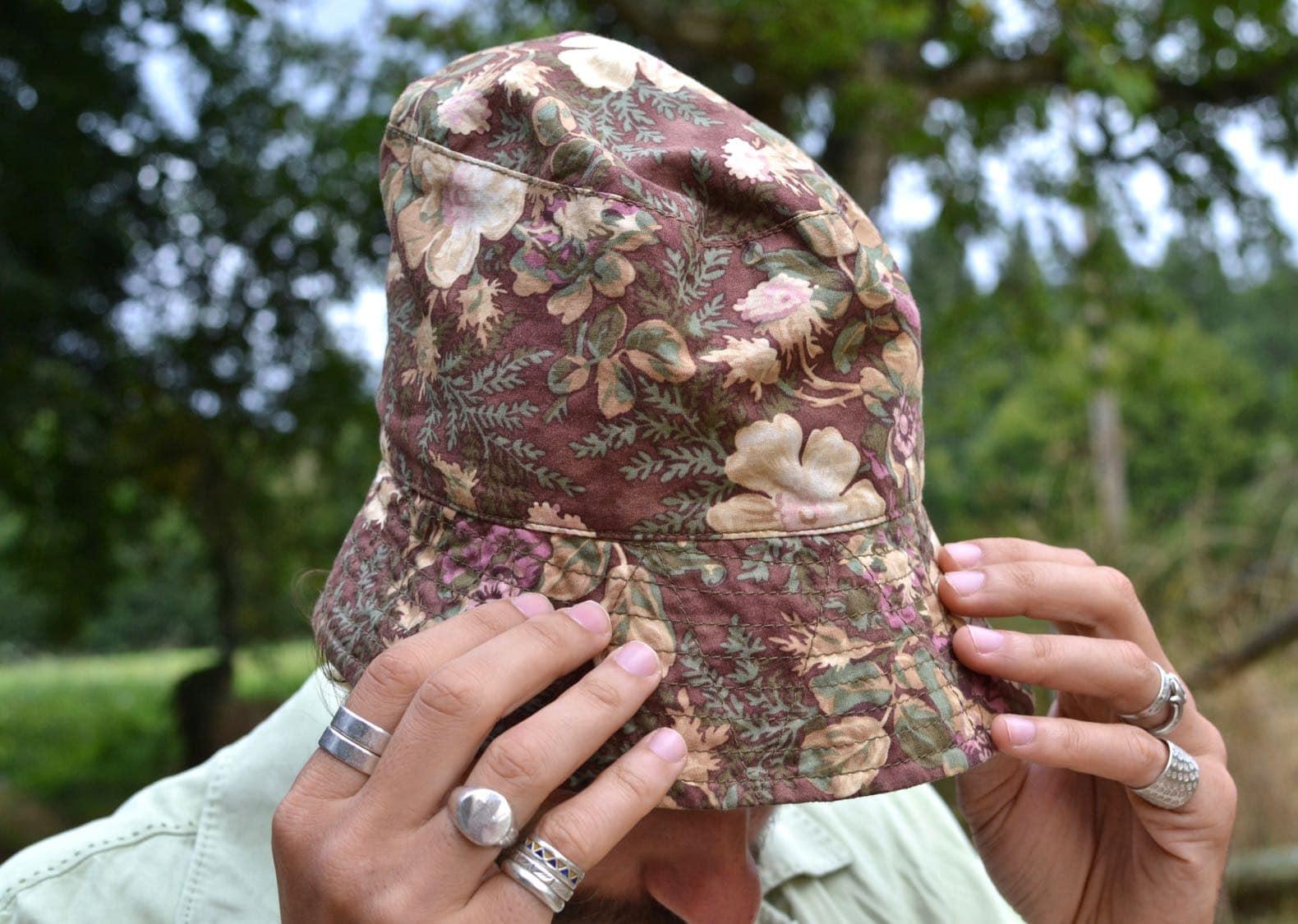 bucket hat engineere garments floral print