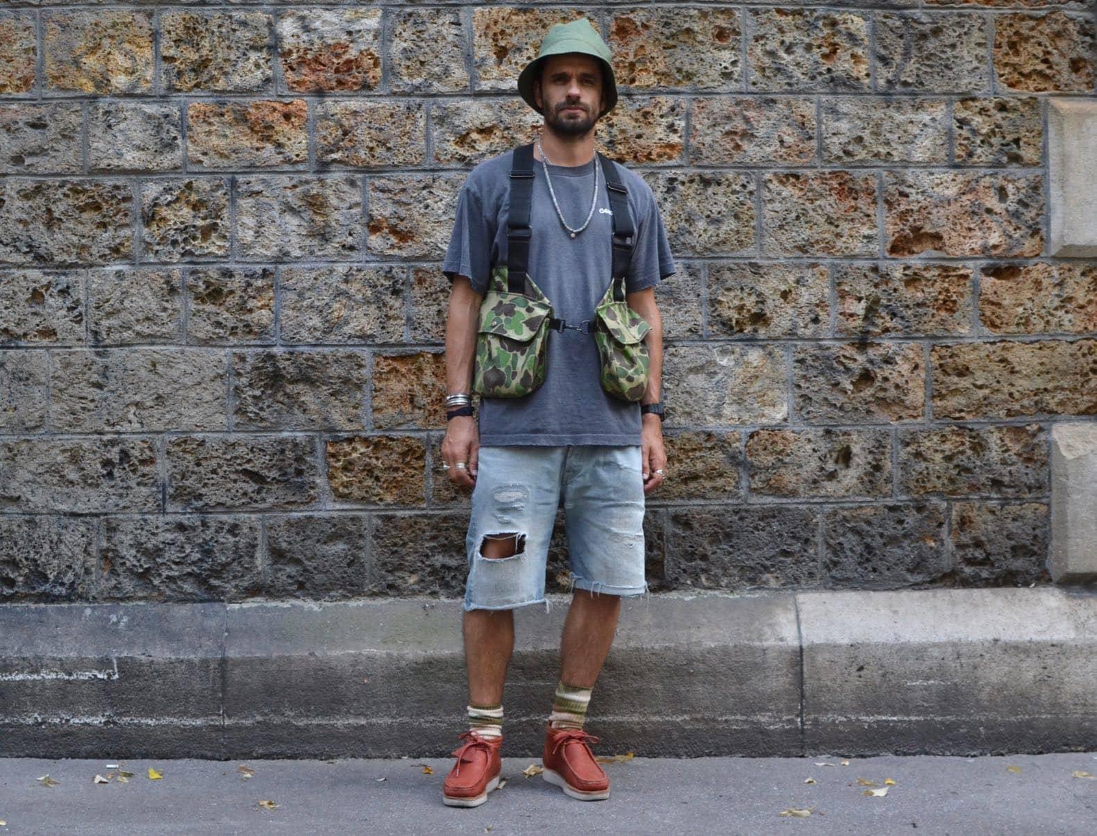 look mode homme avec gilet chasse vintage