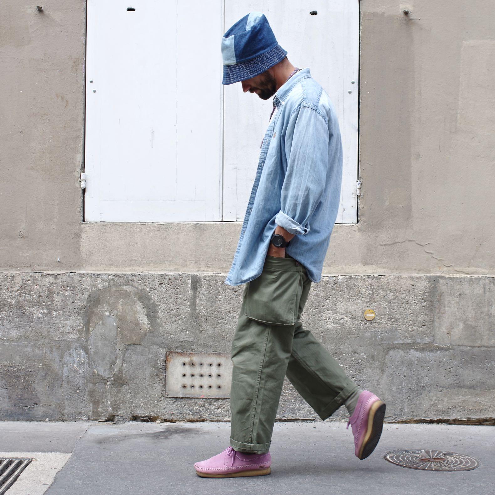 arashi denim P47 cargo pantalon