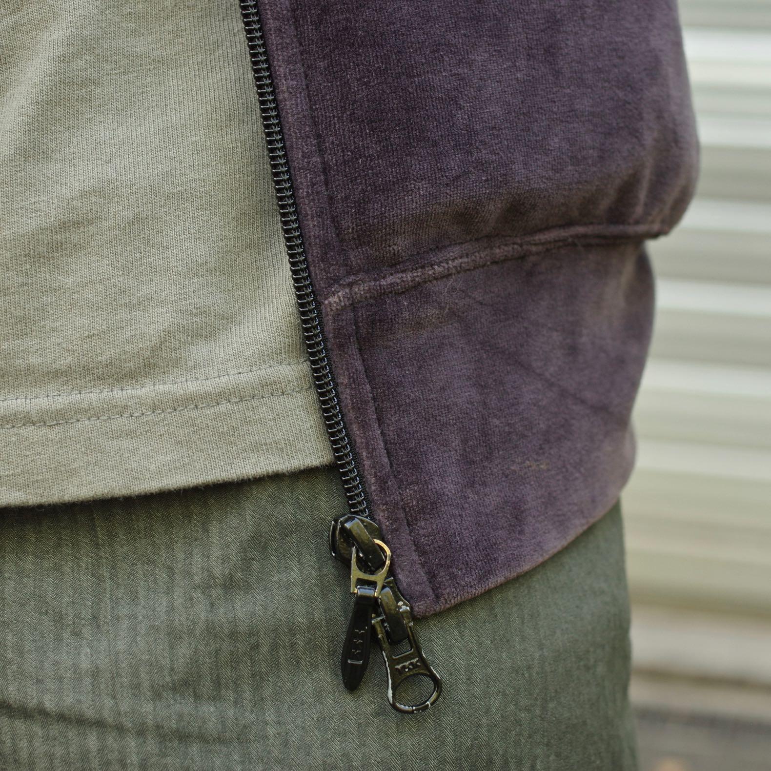 velours violet lisse et micro hbt japonais