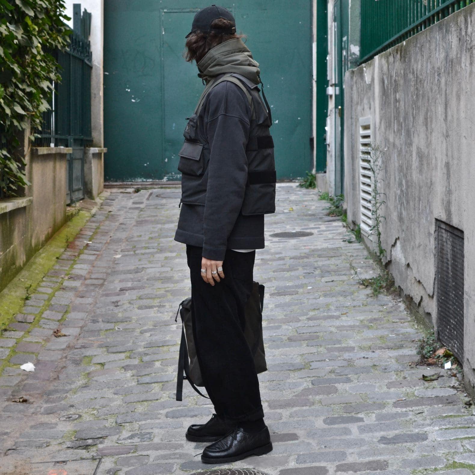 look homme techwear nobis tactical vest