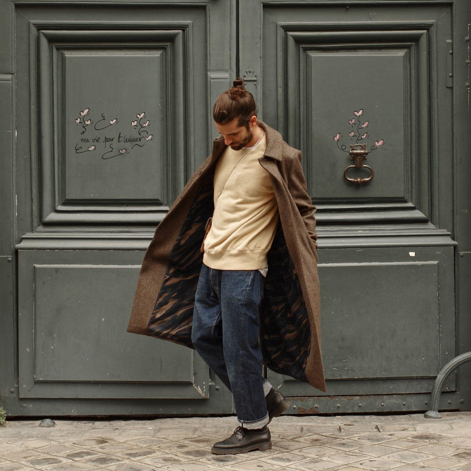 manteau long atelier loden