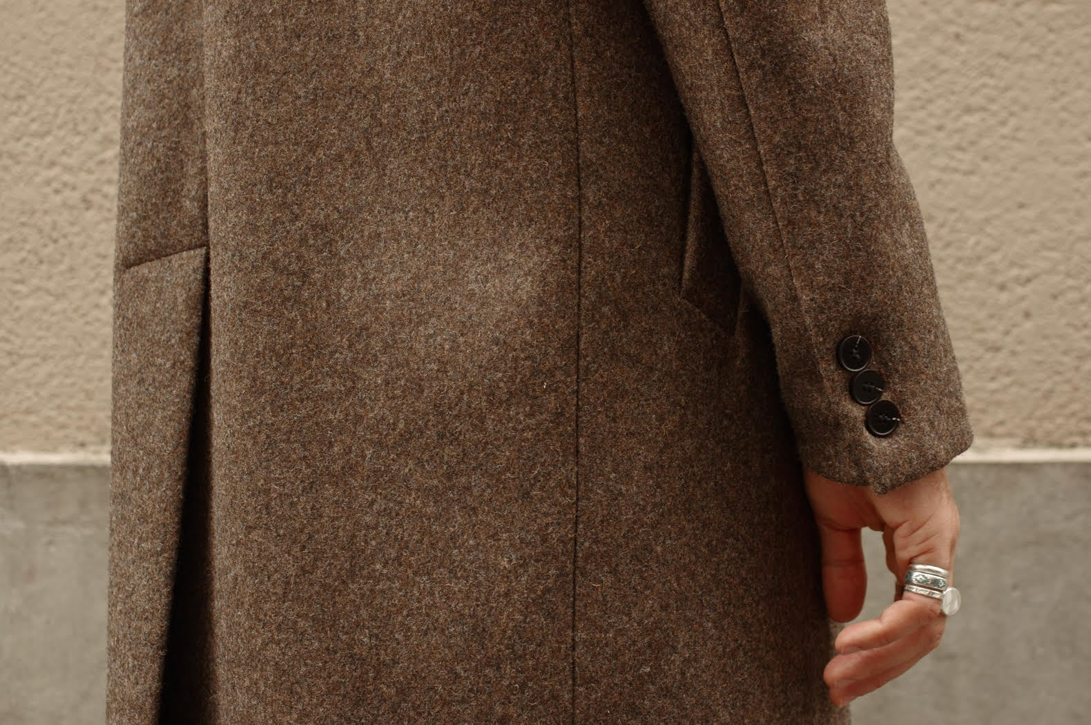 boutonnière manteau laine atelier loden