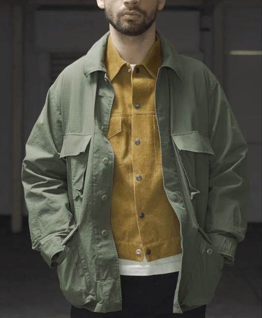 Détail jungle jacket A Vontade